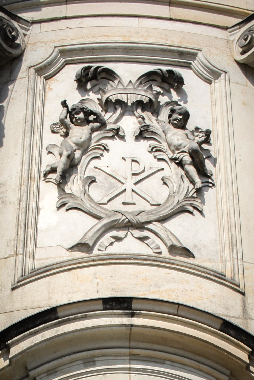 Chi Rho on the Dresden cathedral
