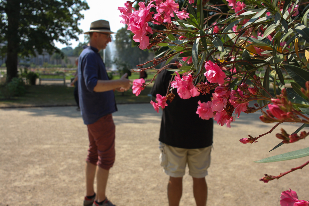 Jan and Roger in the Gardens of Schloss Pillnitz