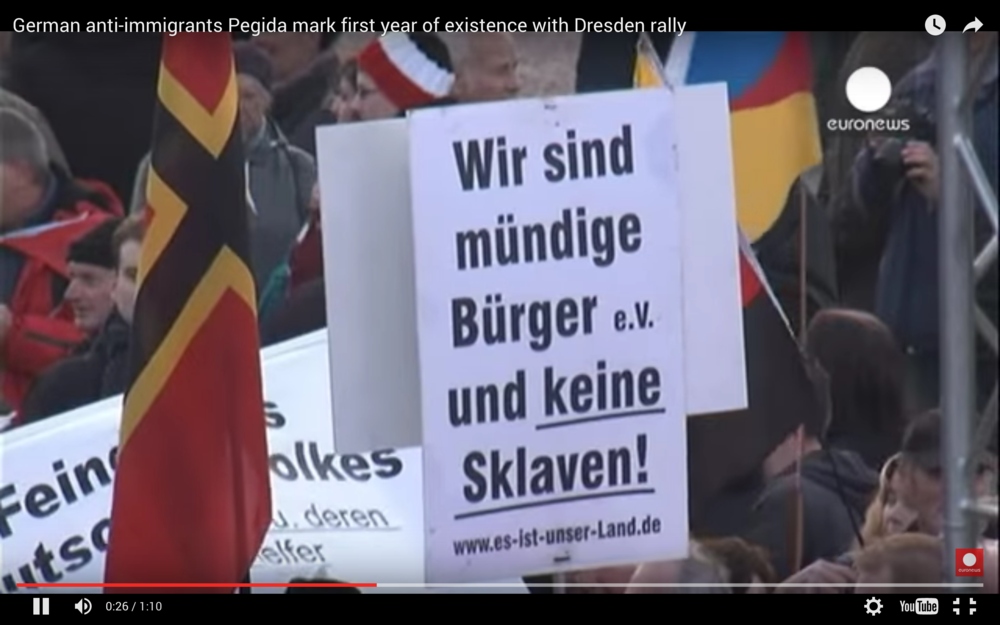 Pegida Marks First Year (Video)
