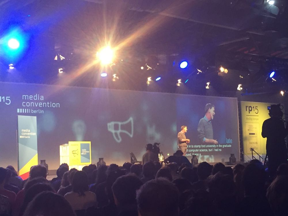 Reed Hastings on stage at re:publica 2015