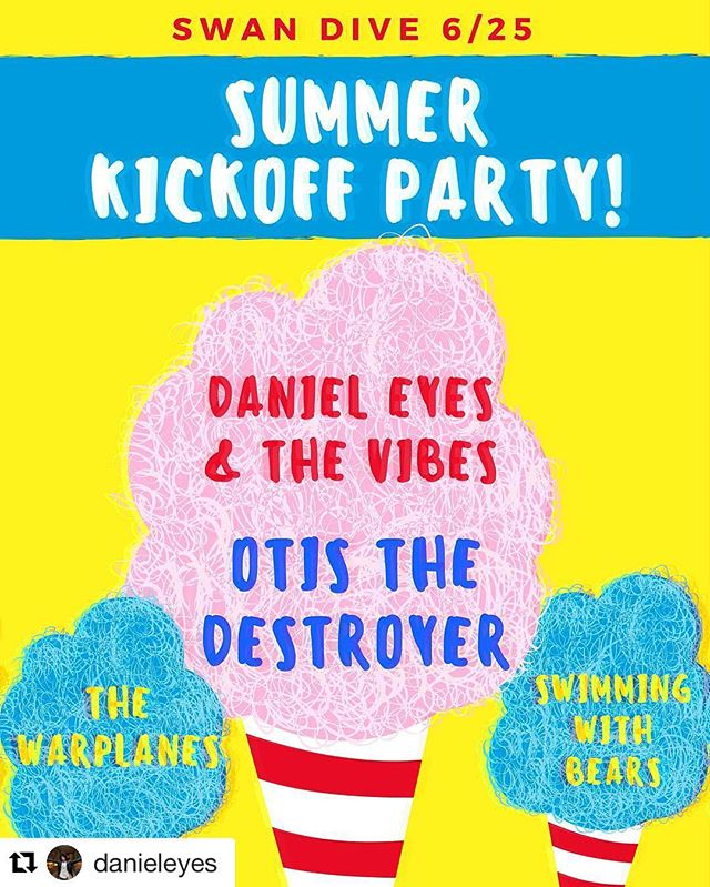 Getcha some #austin, music starts at 9:30!  #Repost @danieleyes with @repostapp ・・・ Turning 25 😬 come get some summer lovin' this Saturday night at @swandiveaustin with us @otisthedestroyer @thewarplanesatx and @swimmingwithbears 👙☀️🍧🍺🍾🍹🏖 #do512 #atx #summer #birthdaybash