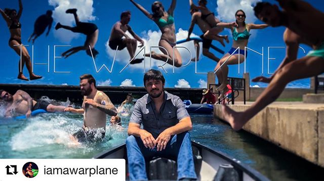 New Music Video Coming Soon!  #Repost @iamawarplane with @repostapp ・・・ Super fun time in #sanmarcos with #thewarplanes shooting a music video for #carerightnow!Thank you @witteidea for all your hard work through this process. Screening announcement coming soon! #sanmartians #sewellpark #river #sanmarcosriver #music #canoeing #oldtimer #witteidea