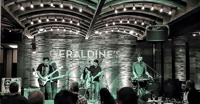 We are at the beautiful @geraldinesaustn at @hotelvanzandt tonight! Downbeat at 10:00, see you there 🎸🍸👊🏼