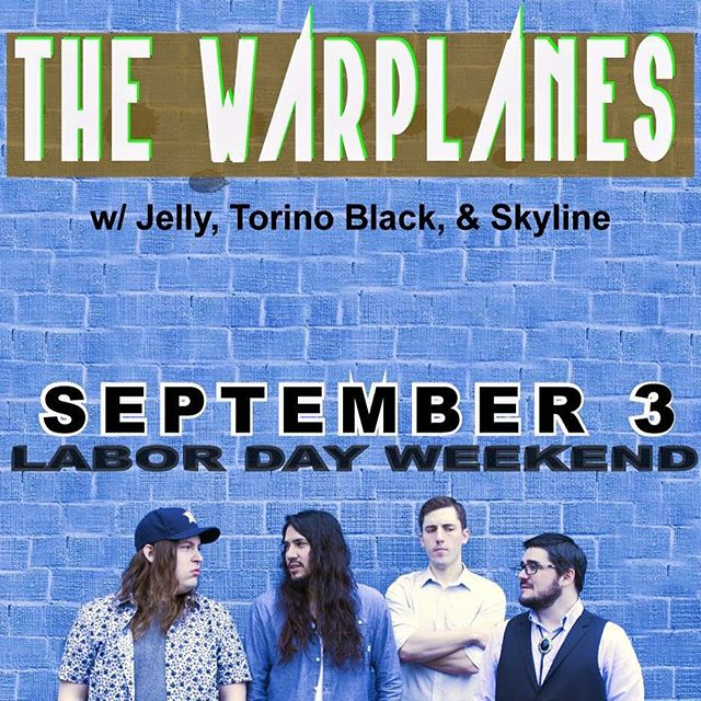 Hey there, we're at @one2onebar tonight with @skyline_atx @torinoblackband and @jellyellington and the music starts at 8 #labordayweekend #atxmusic #thewarplanes