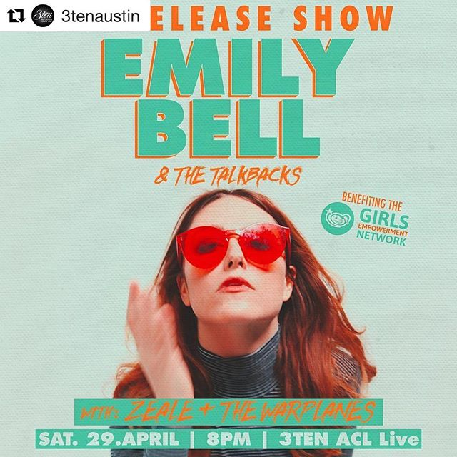 #Repost @3tenaustin with @repostapp ・・・ See you tonight! Tickets at the door. 🎉  7:30PM - Doors 8PM - @thewarplanesatx  9PM - @zeale  10PM - @emilybellmusic