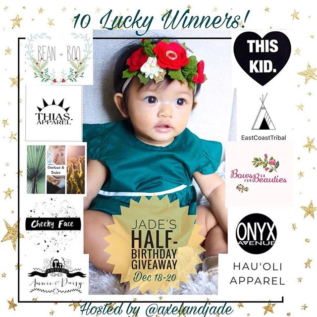 Baby Jade of our good buddies @axelandjade are having an awesome giveaway to celebrate baby Jade's half birthday! We're giving away a $25 shop credit! Woooot wooot!! Head over to @axelandjade to enter my friends 😘 And happy half bday cutie pie!!!