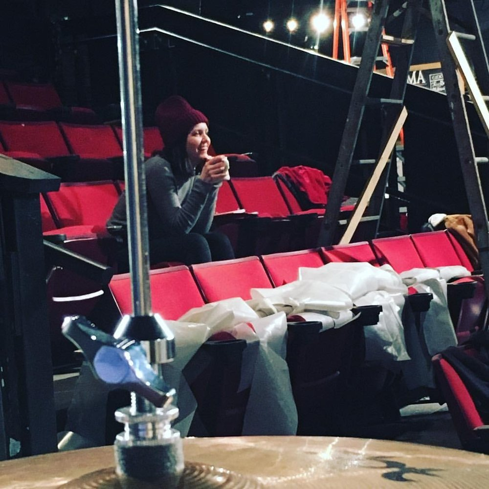 In rehearsals at Dobama Theatre. Photo Credit Nina Domingue.