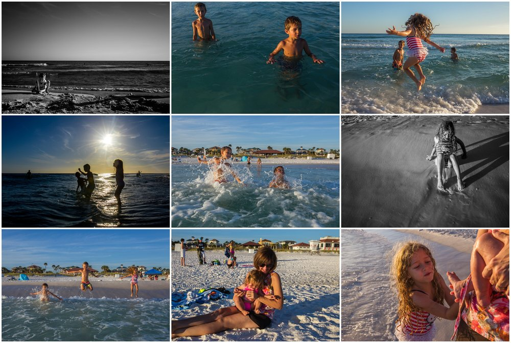 hollipoolphotography ocean, the gulf, Florida panhandle, kids playing on beach