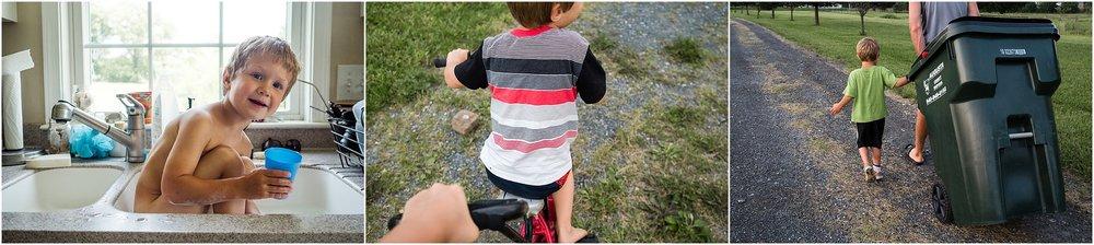 boy, driveway, bicycle