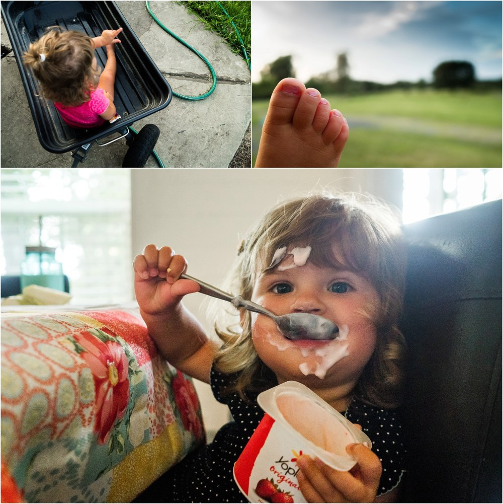 Virginia Family Documentary Photographer, little girl messy eating