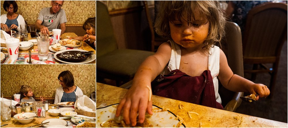 Italian food messy baby