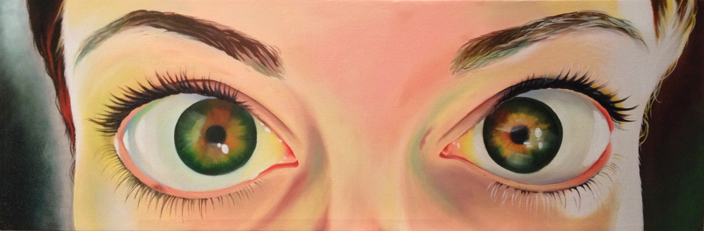 See No Evil (Part 1)    |    Oil on canvas    |    10x30""