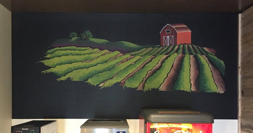 Liquid Chalk Pen  |  Approx. 4x7'  |  Hewlett Packard Pavilion Cafe, Palo Alto