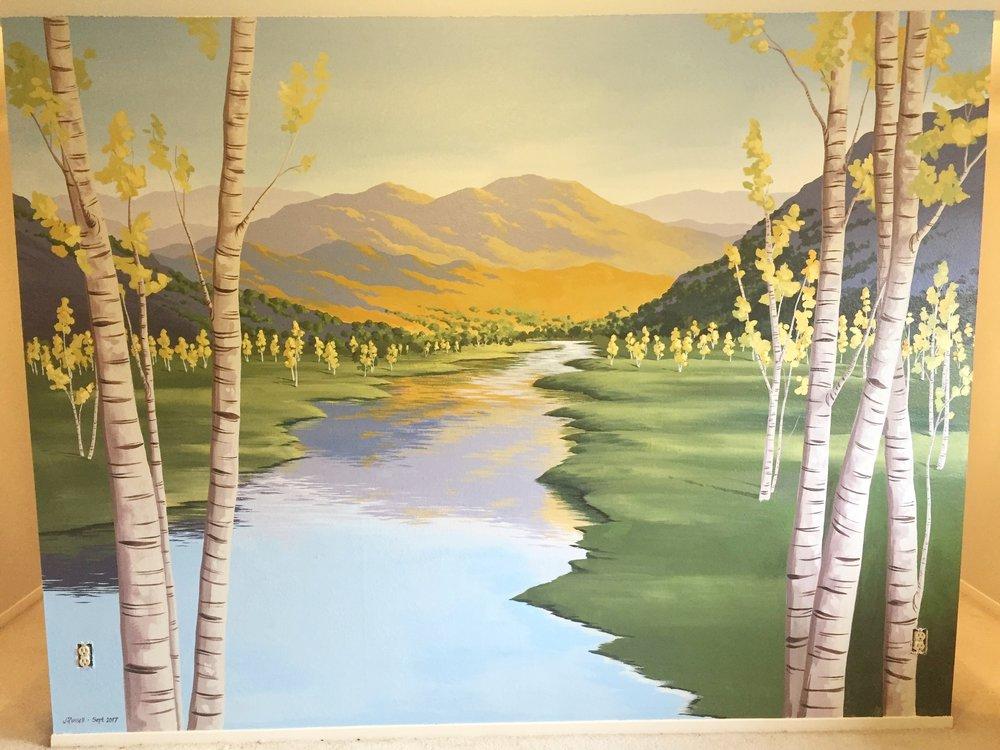 Interior Latex Paint |  10x12'  |  Residential Mural, Davis