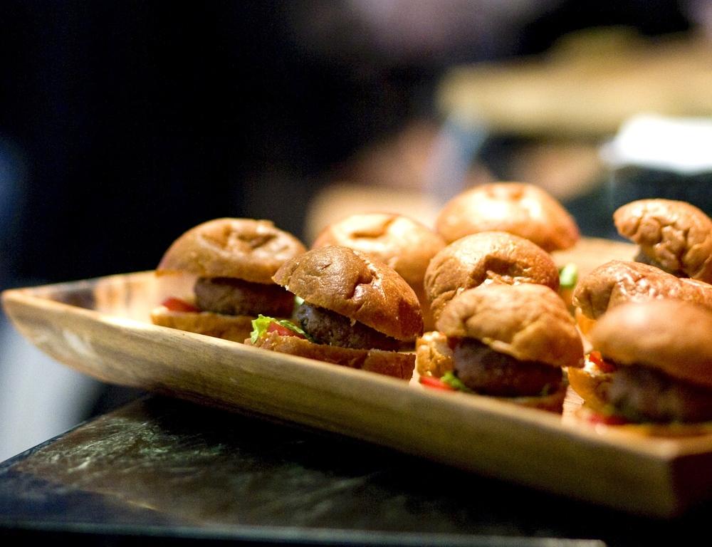 Mini Sirloin Burgers on brioche buns