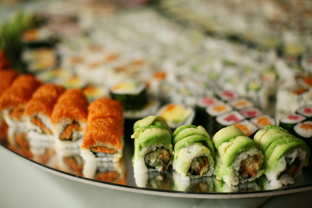 Made to order hand rolled Sushi