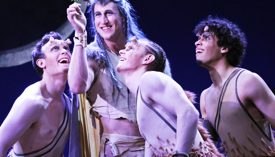 "Four members of the Connecticut Repertory Theatre's showing of ""A Midsummer Night's Dream."" The show is set to run through May 2. (Connecticut Repertory Theatre)"