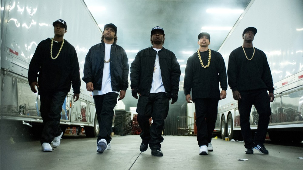 """Straight Outta Compton"" documents the story of rap group N.W.A., and how its members rose from wannabe rappers and gangsters to national prominence. (Courtesy Universal Pictures)"