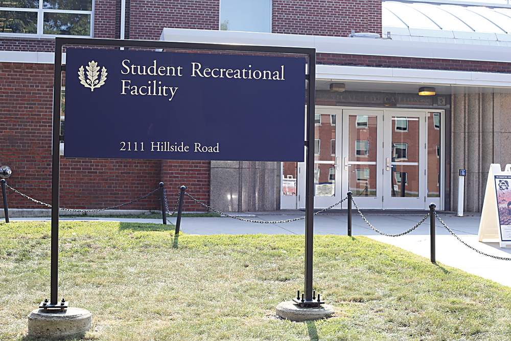 In this photo, the UConn Student Recreational Facility, also known as the Rec Center, is pictured. Renovations to the Putnam Dining Hall have forced UConn's BodyWise fitness and wellness program to move into the already-cramped facility, causing some student backlash. (Jackson Haigis/The Daily Campus)