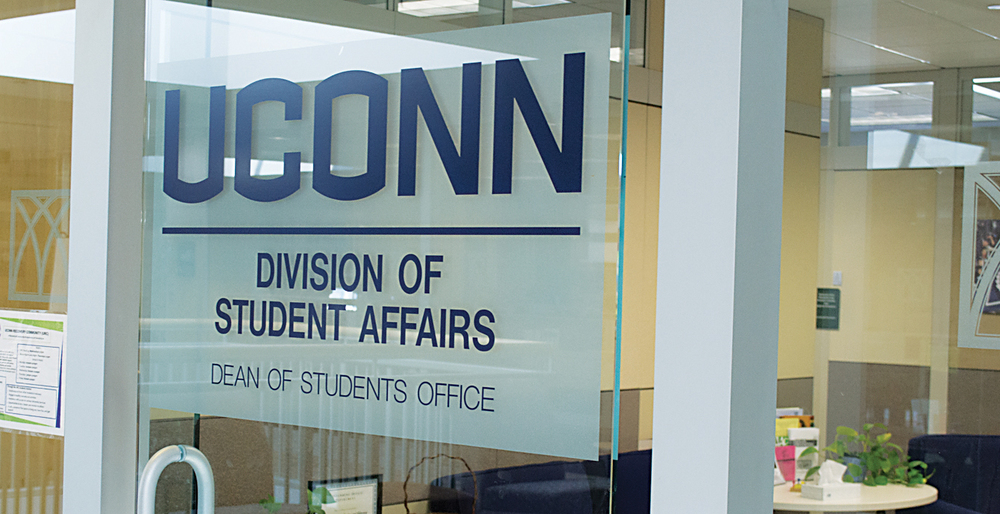 In this photo, the exterior of the UConn Dean of Students office is pictured. Current Dean Eleanor Daugherty will host open office hours once a month beginning on Sept. 30. (Rebecca Newman/The Daily Campus)