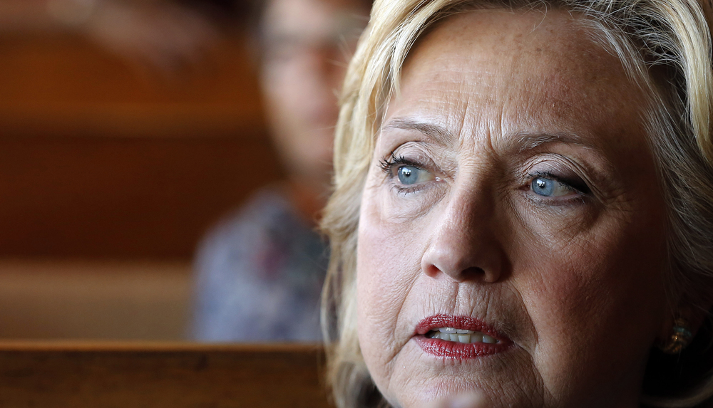 Democratic presidential candidate Hillary Rodham Clinton is seen during a campaign stop at the Union Diner, Thursday, Sept. 17, 2015, in Laconia, N.H. (Jim Cole/AP)