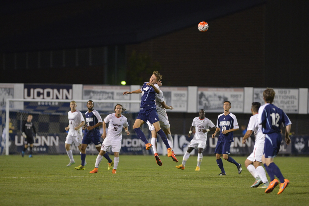 The UConn men's soccer team (3-1-3) suffered their first loss of the season in a 3-1 road setback at Boston College (5-2-0) on Tuesday night. (Jason Jiang/The Daily Campus