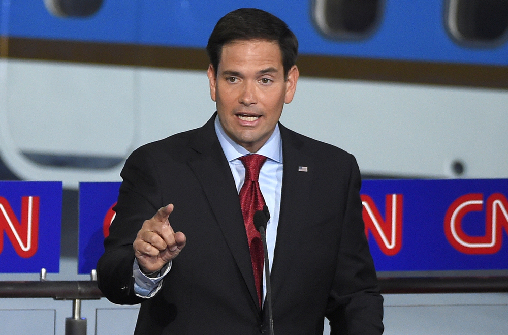 Republican presidential candidate, Sen. Marco Rubio, R-Fla., speaks during the CNN Republican presidential debate at the Ronald Reagan Presidential Library and Museum on Wednesday, Sept. 16, 2015, in Simi Valley, Calif. (Mark J. Terrill/AP)