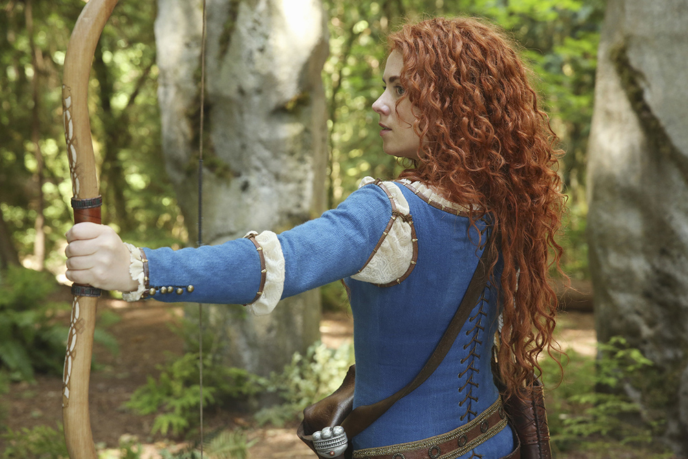 "Merida, a character from Pixar's ""Brave,"" made an appearance on the show for the first episode of season five (Courtesy/ABC)."