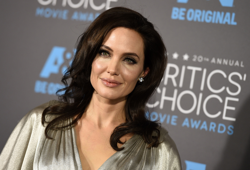 In this Jan. 15, 2015 file photo, Angelina Jolie arrives at the 20th annual Critics' Choice Movie Awards at the Hollywood Palladium, in Los Angeles. (Jordan Strauss/Invision/AP, File)