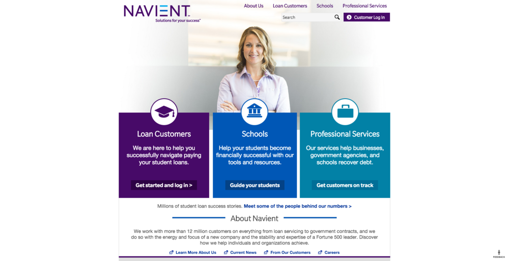 Student loan borrowers working with Navient, the largest student loan servicer in the United States, were 38 percent less likely to default on loans compared to borrowers who used other loan servicers, according to a statement released by Navient on Sept. 30. (Screenshot)