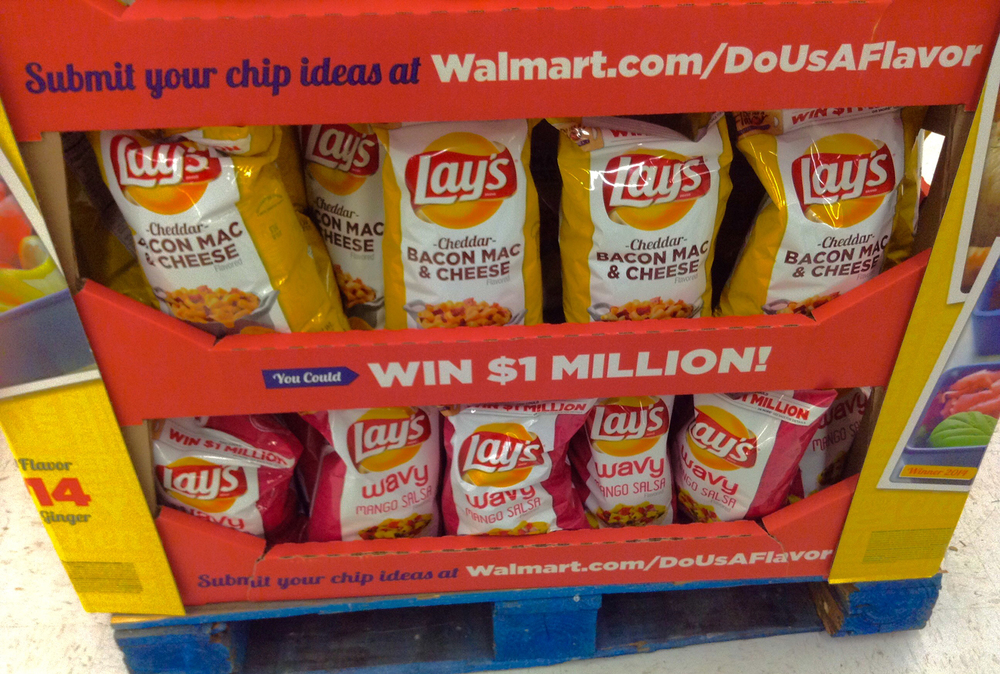 "Above shows a photo of last year's options in the Lay's ""Do us a Flavor"" competition, which included bacon macaroni and cheese as a flavor option, a coincidence as UConn student Luke Gatti, or ""Mac and Cheese Kid,"" grows in internet infamy. (Mike Mozart/Flickr)"