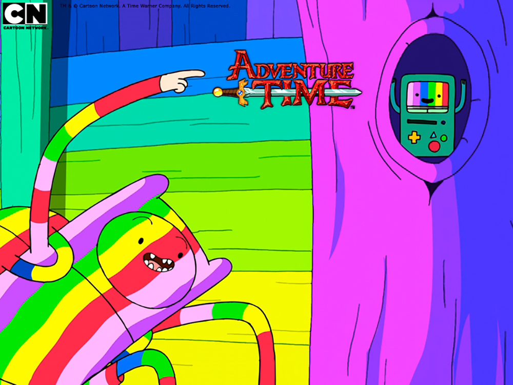 """Adventure Time,"" which airs on Cartoon Network, is a children's show and takes on a Spongebob-like role for the network. (Courtesy/Cartoon Network)"