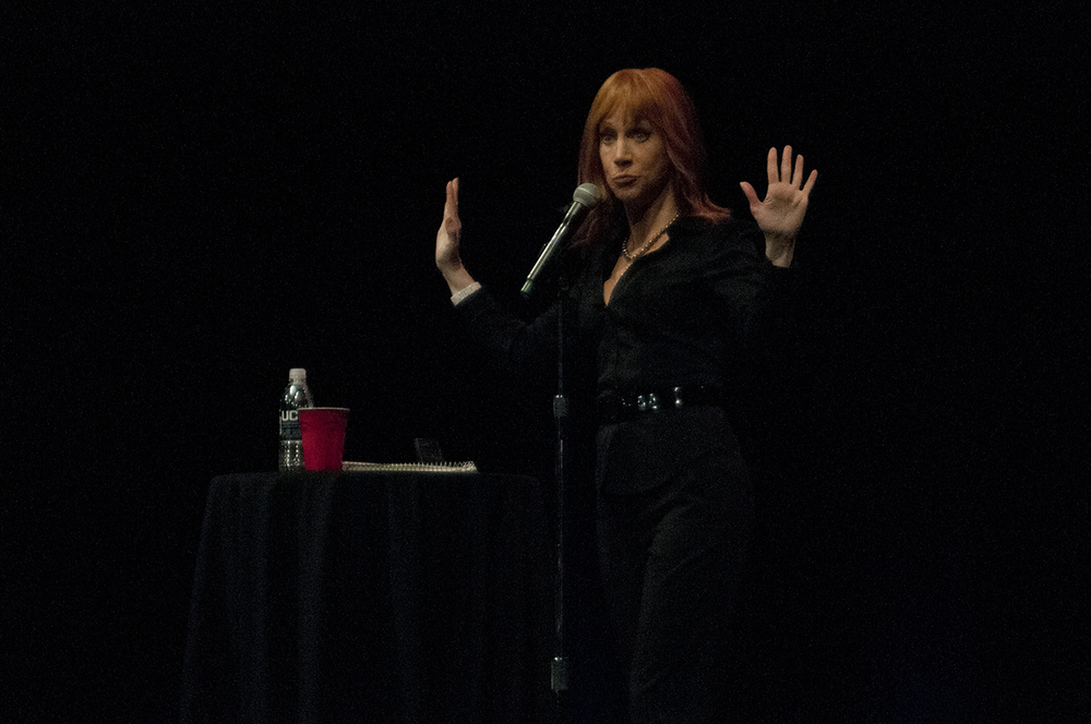 Comedian Kathy Griffin is seen during her show at the Jorgensen Center for the Performing Arts in Storrs, Connecticut on Thursday, Oct. 29, 2015. (Carly Zaleski/The Daily Campus)