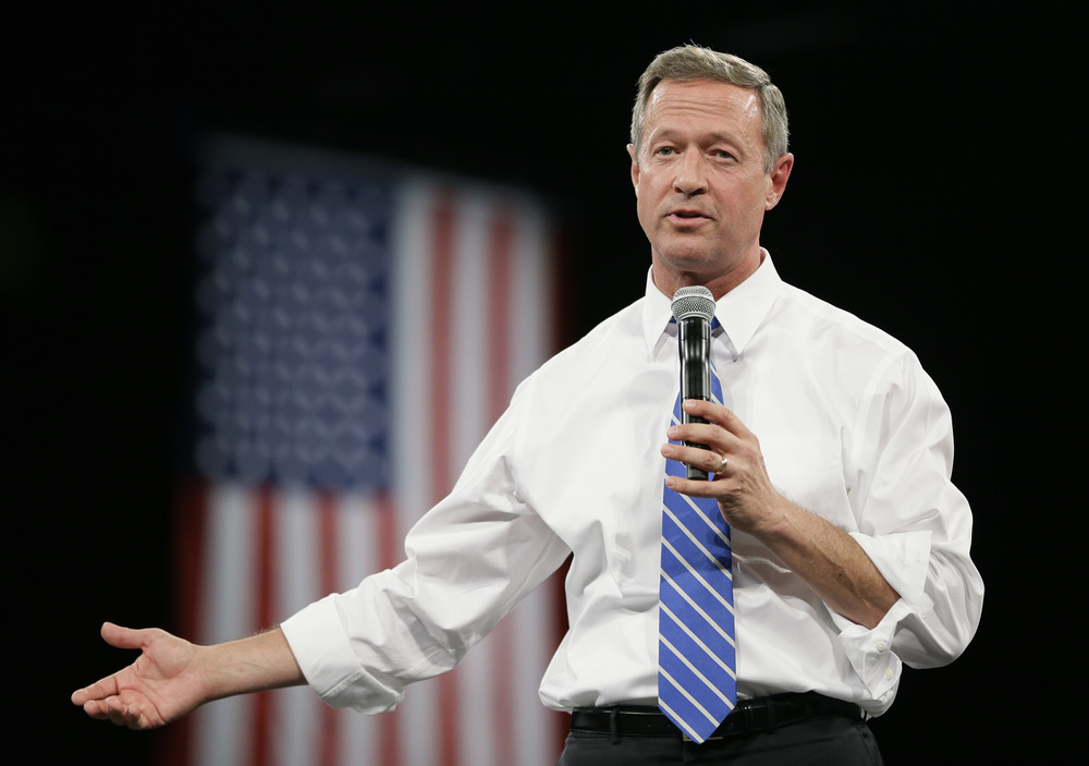 Democratic presidential candidate and former Maryland Gov. Martin O'Malley speaks during the Iowa Democratic Party's Jefferson-Jackson fundraising dinner, Saturday, Oct. 24, 2015, in Des Moines, Iowa. (Charlie Neibergall/AP)
