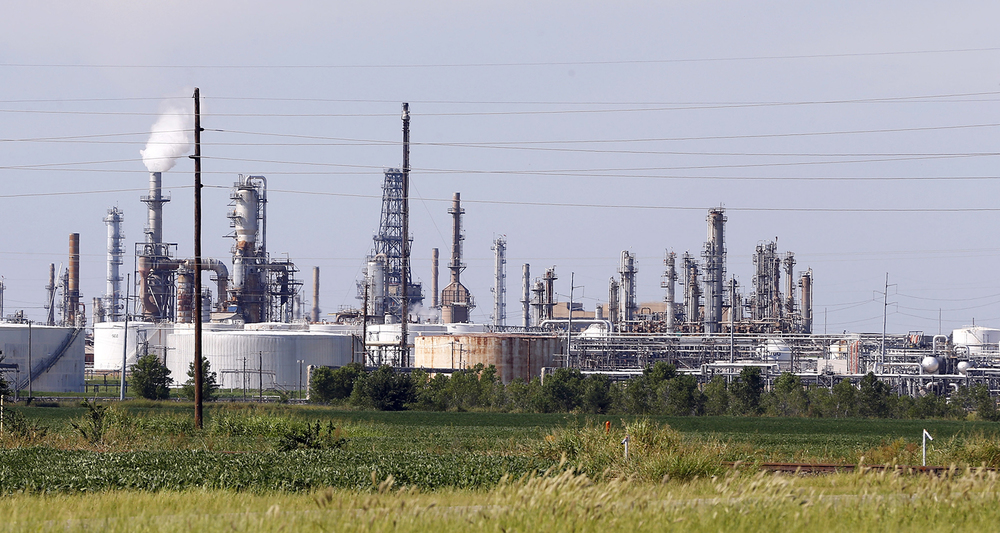 A refinery owned by Phillips 66 in Oklahoma. Exxon, a larger oil company, has faced demands from environmental groups that it deceived the American public by denying climate change. (AP)