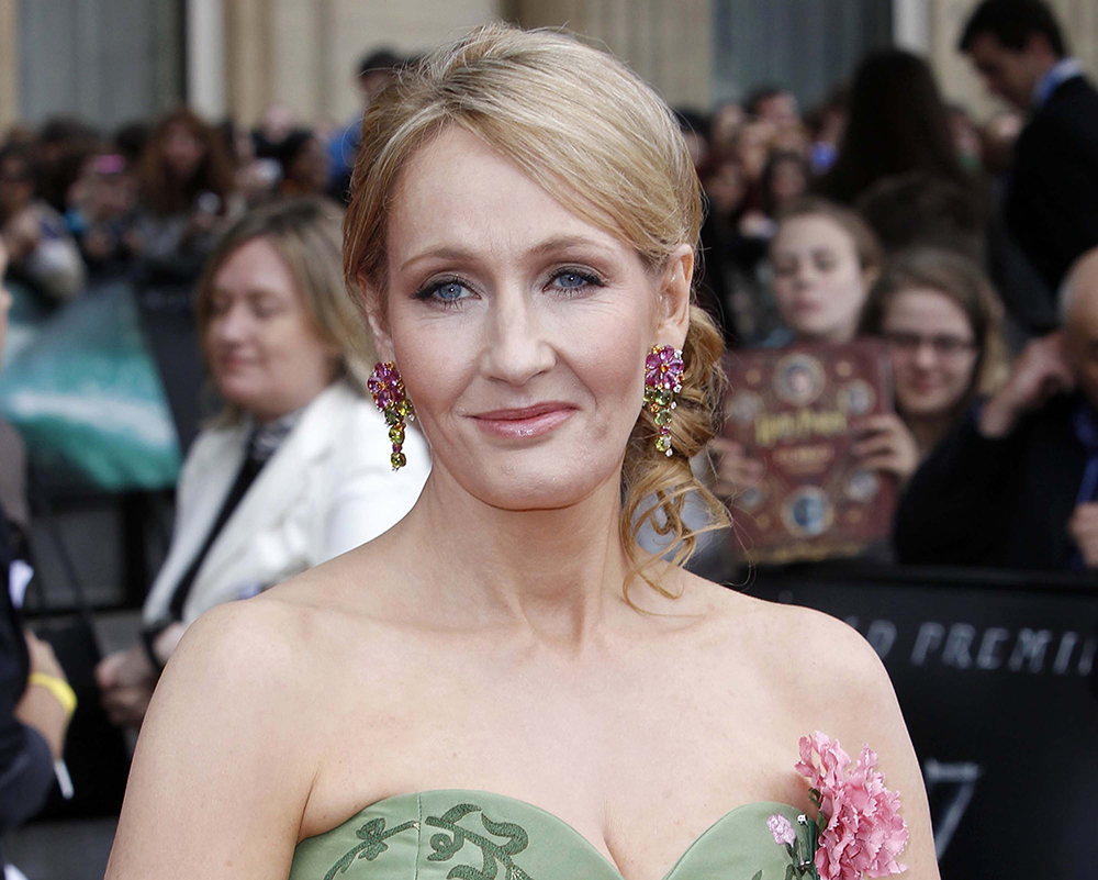 "In this July 7, 2011 file photo, British author JK Rowling arrives in Trafalgar Square, in central London, for the World Premiere of ""Harry Potter and The Deathly Hallows: Part 2,"" the last film in the series. (AP)"