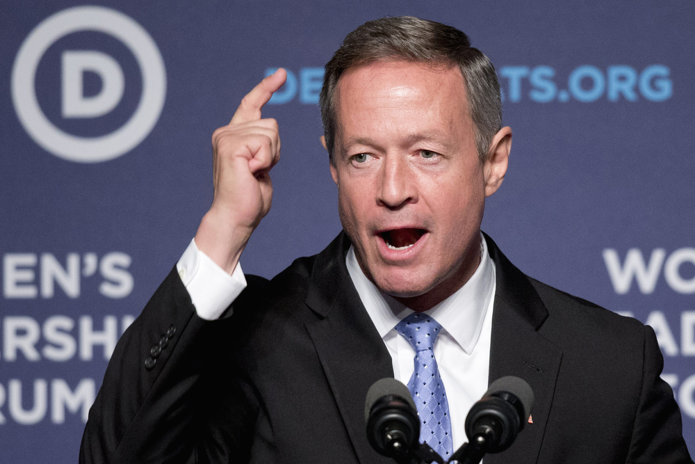 Democratic presidential candidate, former Maryland Gov. Martin O'Malley speaks to the Democratic National Committee 22nd Annual Women's Leadership Forum National Issues Conference in Washington, Friday, Oct. 23, 2015. (Jacquelyn Martin/AP)