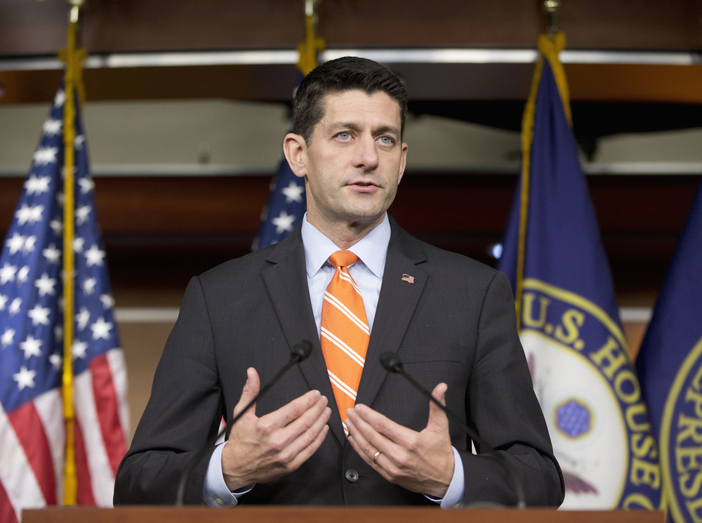 House Speaker Paul Ryan of Wis., gestures during his news conference on Capitol Hill in Washington, Thursday, Nov. 5, 2015. The House has voted to continue transportation programs for six years with no significant increase in spending. That's despite warnings that the nation's roads, bridges and transit systems are falling apart. (Pablo Martinez Monsivais/AP)