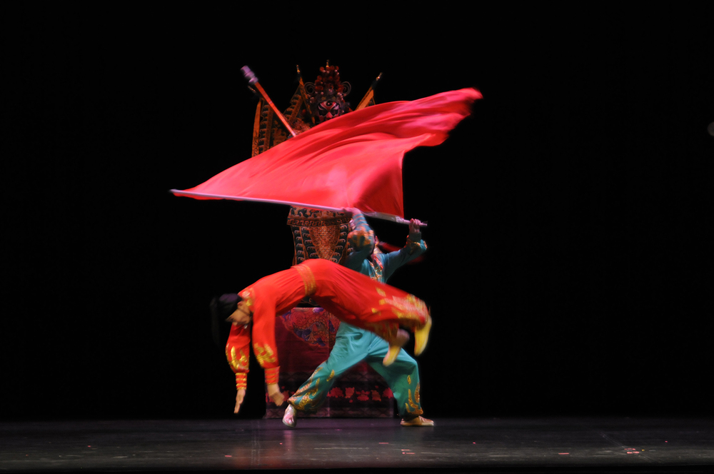 "Members of the National Circus and Acrobats of the People's Republic of China are seen performing during ""Peking Dreams"" at the Jorgensen Center for the Performing Arts in Storrs, Connecticut on Saturday, Nov. 7, 2015. (Rebecca Newman/The Daily Campus)"