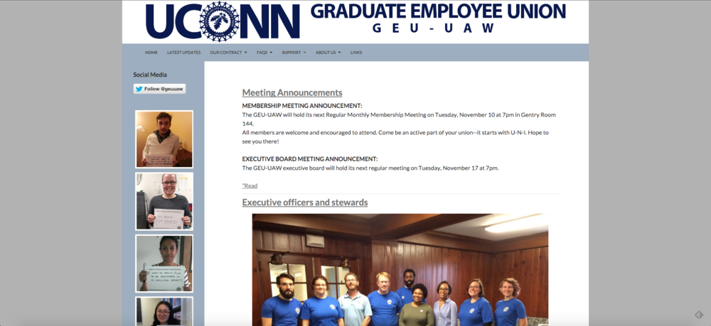 The GEU is a democratic organization aiming to improve the work lives of graduate assistants, with 70 percent of graduate students being members, according to Todd Vachon, GEU president. (Screenshot)