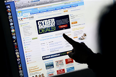 More and more consumers are opting to do their holiday shopping on Cyber Monday, as opposed to Black Friday. (AP).