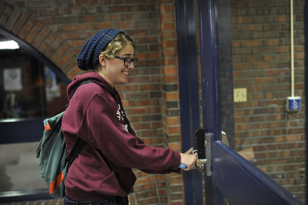An investigation by The Daily Campus found that students were able to swipe into residence halls from spring 2015. (Jason Jiang/Daily Campus)