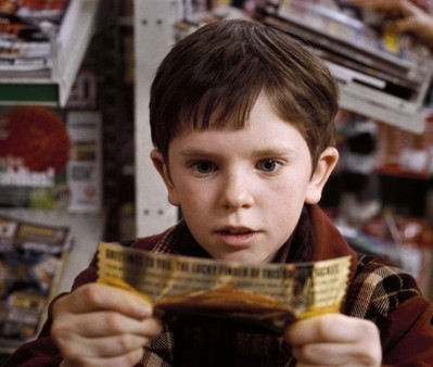 "Freddie Highmore as Charlie Bucket in ""Charlie and the Chocolate Factory,"" one of the stories with a misleadingly loving character (Willy Wonka). (Geoffrey Chandler/Flickr)"