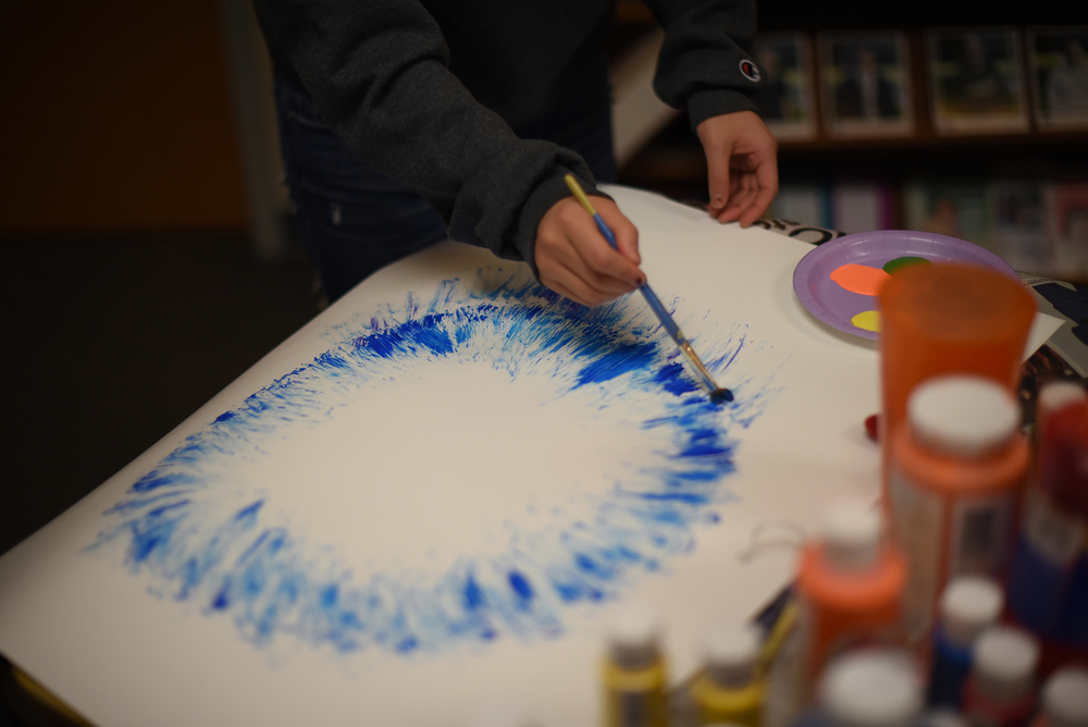 """Express to Destress"" was held to encourage art therapy before finals. (The Daily Campus)"