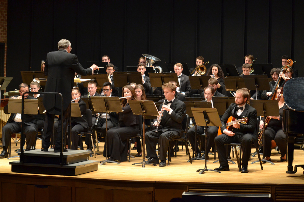 "The University of Connecticut Wind Ensemble wowed the audience with a breathtaking concert entitled ""Bird Song"" at the J. Louis von der Mehden Recital Hall on Thursday, Dec. 3, 2015. (Amar Batra/The Daily Campus)"