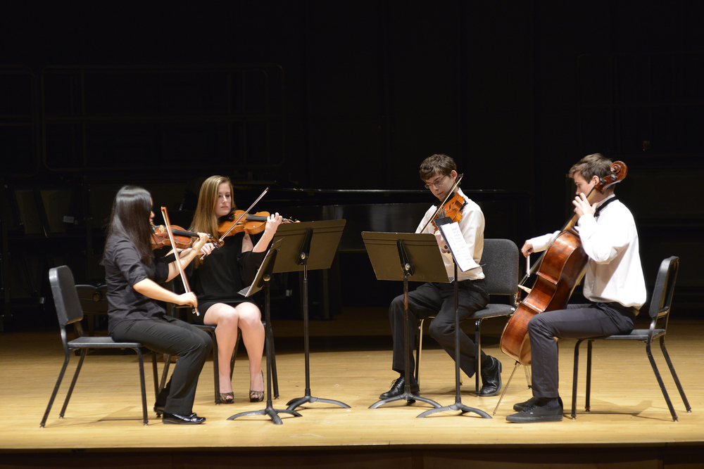 The Chamber music ensemble performed works by Beethoven, Mozart and contemporary artists during a recital at J. Louis von der Mehden Recital Hall on Saturday, Dec. 5, 2015. (Jason Jiang/The Daily Campus)