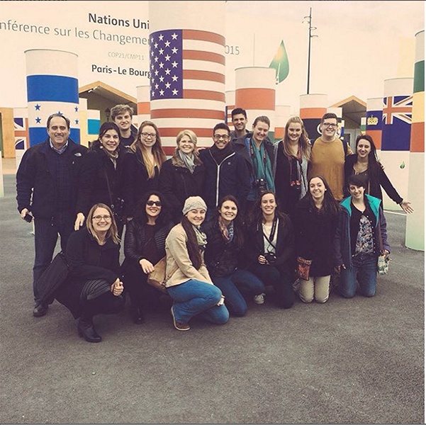 A group of UConn students and faculty are in Paris this week for a climate change summit. (@UConn/Instagram)