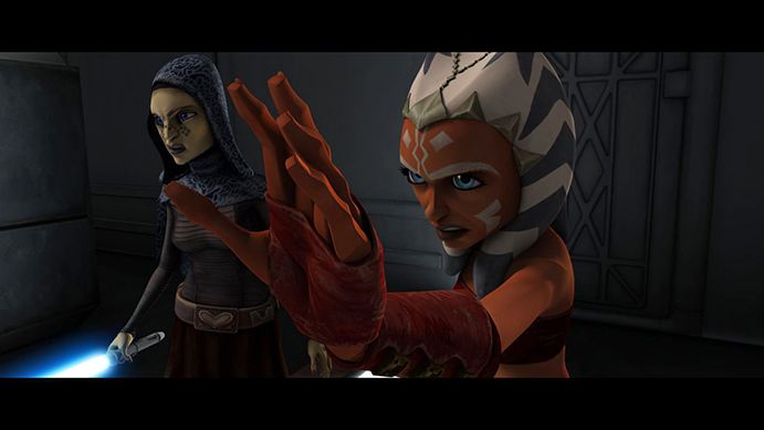 "Ahsoka Tano faces a deadly threat in the form of mind-controlled clones in ""Brain Invaders,"" an all-new episode of STAR WARS: THE CLONE WARS. (Jason Jones/Flickr)"