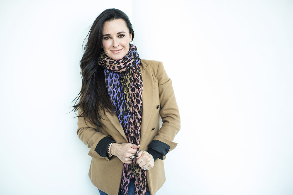 "Kyle Richards of ""The Real Housewives of Beverly Hills,"" poses for a portrait on Monday, Nov. 30, 2015, in New York to promote her show, premiering Tuesday, Dec. 1 on Bravo. (Photo by Scott Gries/Invision/AP)"