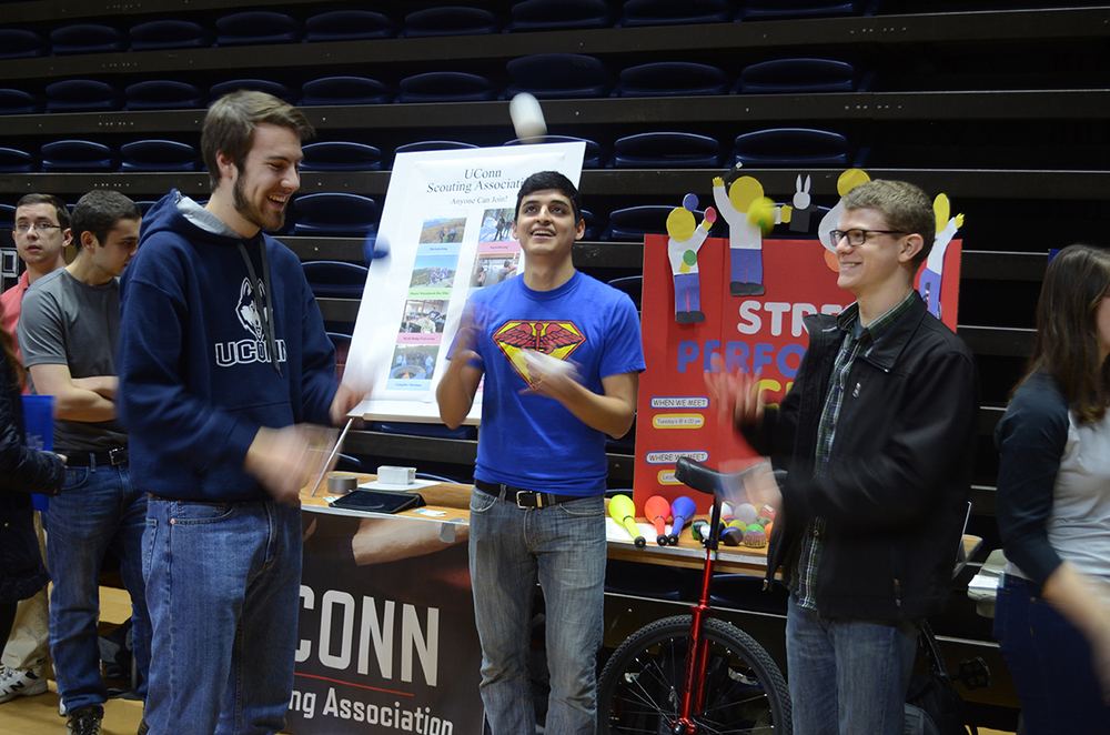 Students have fun during the Spring Involvement Fair at Gampel Pavilion on Jan. 27, 2016. (Sam Mahmud/The Daily Campus)
